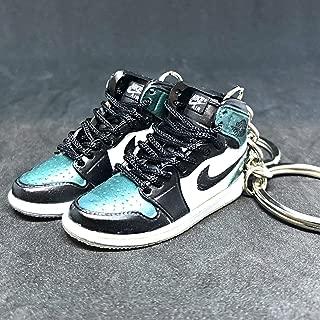 Pair Air Jordan I 1 High Retro All Star Chameleon OG Sneakers Shoes 3D Keychain 1 :6 Figure