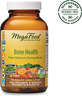 MegaFood, Bone Health, Helps Maintain Strong Bones, Multivitamin Supplement, Gluten Free, Vegetarian, 120 tablets (30 servings)