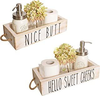 Nice Butt Bathroom Decor Box, 2 Sides with Funny Sayings – Funny Toilet Paper..