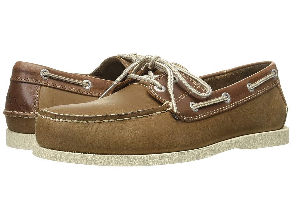 Dockers Vargas Boat Shoe (Taupe/Dark Tan Waxy Crazyhorse) Men