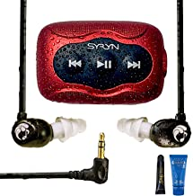 Swimbuds Flip Headphones and 8 GB SYRYN Waterproof MP3 Player with Shuffle Feature