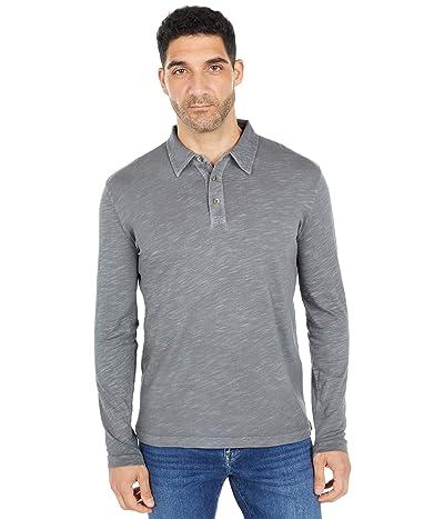 Mod-o-doc Salt Point Long Sleeve Slub Jersey Polo (Titanium) Men