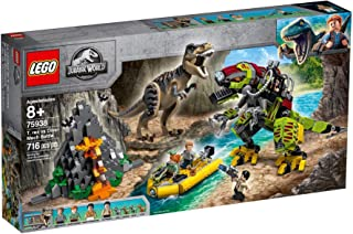 LEGO Jurassic World T. rex vs Dino-Mech Battle for age 8+ years old 75938