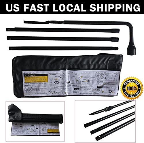 Bowoshen for Chevy GMC Silverado Sierra Spare Tire Tool Lug Wrench Set Replacement Kit New with Storage Case 22969377 20782708