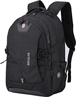 """Anboer Black Large Laptop Travel Backpack-Fits Most 17"""" Inch with USB Port"""