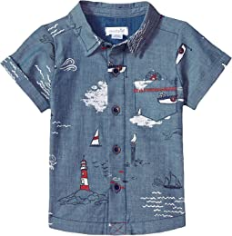 Sail Away Resort Short Sleeve Button Down Shirt (Infant/Toddler)