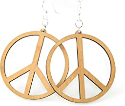 product image for Large Peace Sign Earrings