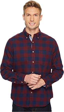 Nautica - Long Sleeve Flannel Buffalo Plaid Shirt
