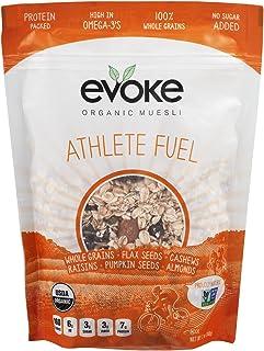 Evoke Organic Muesli Cereal, Athlete Fuel, 12 oz, No Added Sugar, Enjoy cold or hot! Overnight Oats!