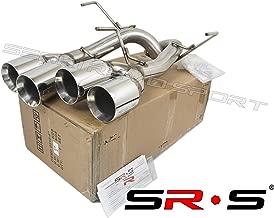 SRS Axleback QUAD TIP EXHAUST FOR 2011-2014 Subaru WRX/STI Chrome 4