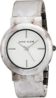 Women's AK/2835WTGY Grey Marble Ceramic Bangle Watch