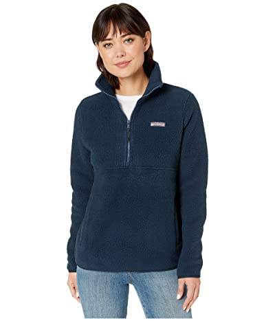 Vineyard Vines Sherpa 1/2 Zip (Vineyard Navy) Women