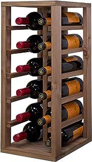 comprar comparacion Expovinalia Botellero Pino 12 Botellas, Roble Claro, 58x24x32 cm