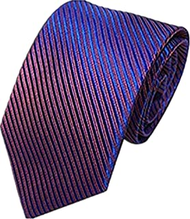 Unisex Novelty Men's Striped Plaid Dress Hand Tie Classic Jacquard Woven Necktie Tie Party Wedding Formal Business Tie