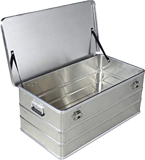 Caja de aluminio de 140 litros de capacidad – Caja de transporte Caja de almacenamiento Caja de metal Caja de almacenamiento baúl Industrial Caja de almacenamiento Caja de aluminio