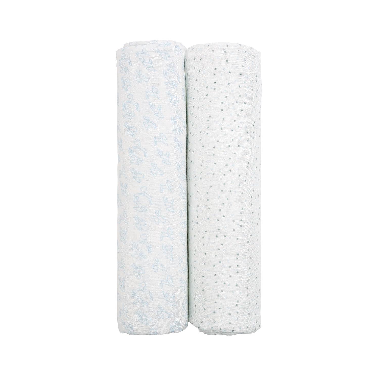 //Heavenly Soft Swaddle XLGlama Lama 2 Stk. 120 x 120 cm L/ÄSSIG Baby Pucktuch Spucktuch Muslin Mulltuch aus Bambusfaser und Baumwolle weich atmungsaktiv