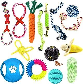 Juego de Juguetes Para Perros, 15 Piezas de Juguetes Para Perros en Forma de Cuerda, Juguetes Para Masticar Para Cachorros...