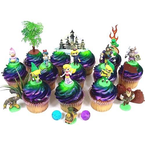 Legend Of Zelda Birthday CUPCAKE Topper Set Featuring Link Phantom Bryne