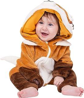 corimori corimori Baby Onesie Faye der Fuchs Süßes Tier Plüsch-Kostüm Strampler Braun Beige 70-90 cm