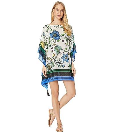 Tory Burch Swimwear Printed Beach Caftan Cover-Up (New Ivory Love Floral) Women