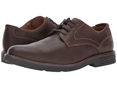 Dockers Parkway Plain Toe Oxford (Dark Brown Waxy Burnished Full Grain) Men