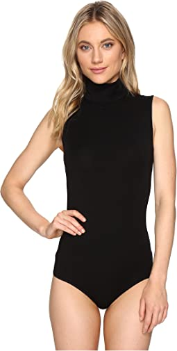 Viscose String Bodysuit - Turtleneck