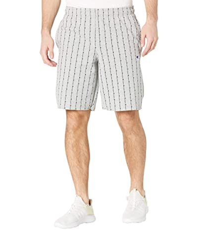 Champion Powerblend(r) AOP Shorts (Oxford Grey Logo Pinstripe Vertical) Men