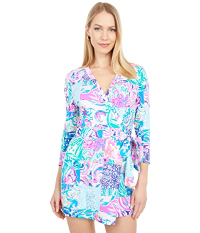 Lilly Pulitzer Karlie Wrap Romper (Multi Patch To Match) Women