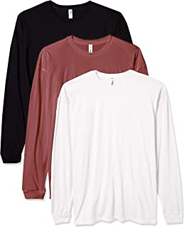 Marky G Apparel Men's Inspired Dye Long Sleeve Crewneck T-Shirt (Pack of 3)