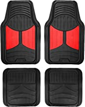 FH Group F11313RED Rubber Floor (Red and Black Full Set Trim to Fit Mats)