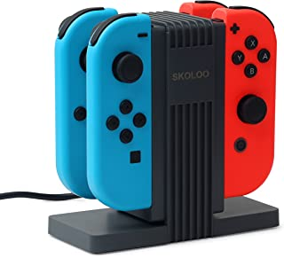 NS Joy-Con Charging Dock,SKOLOO Quad Charging Station Charge Stand Built-in 4 Slide Orbits for Nintendo Switch Joy-Con Controllers