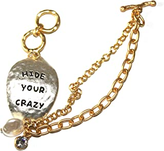 Shoppingbuyfaith Hide Your Crazy Bracelet Toggle Closure Two Toned