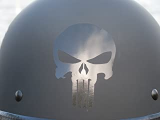 High Viz Inc Reflective Badass Skull Helmet Decal in BLACK - 2 1/8