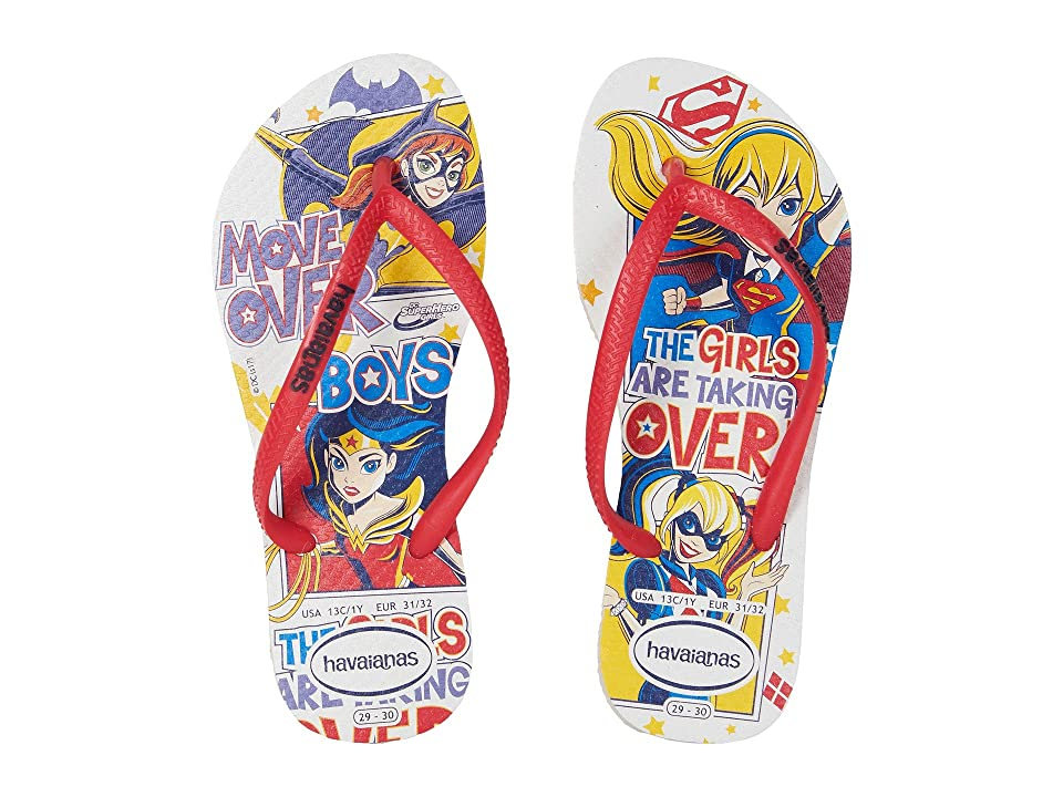 Havaianas Kids DC Super Hero Girls Flip-Flop (Toddler/Little Kid/Big Kid) (White) Girls Shoes