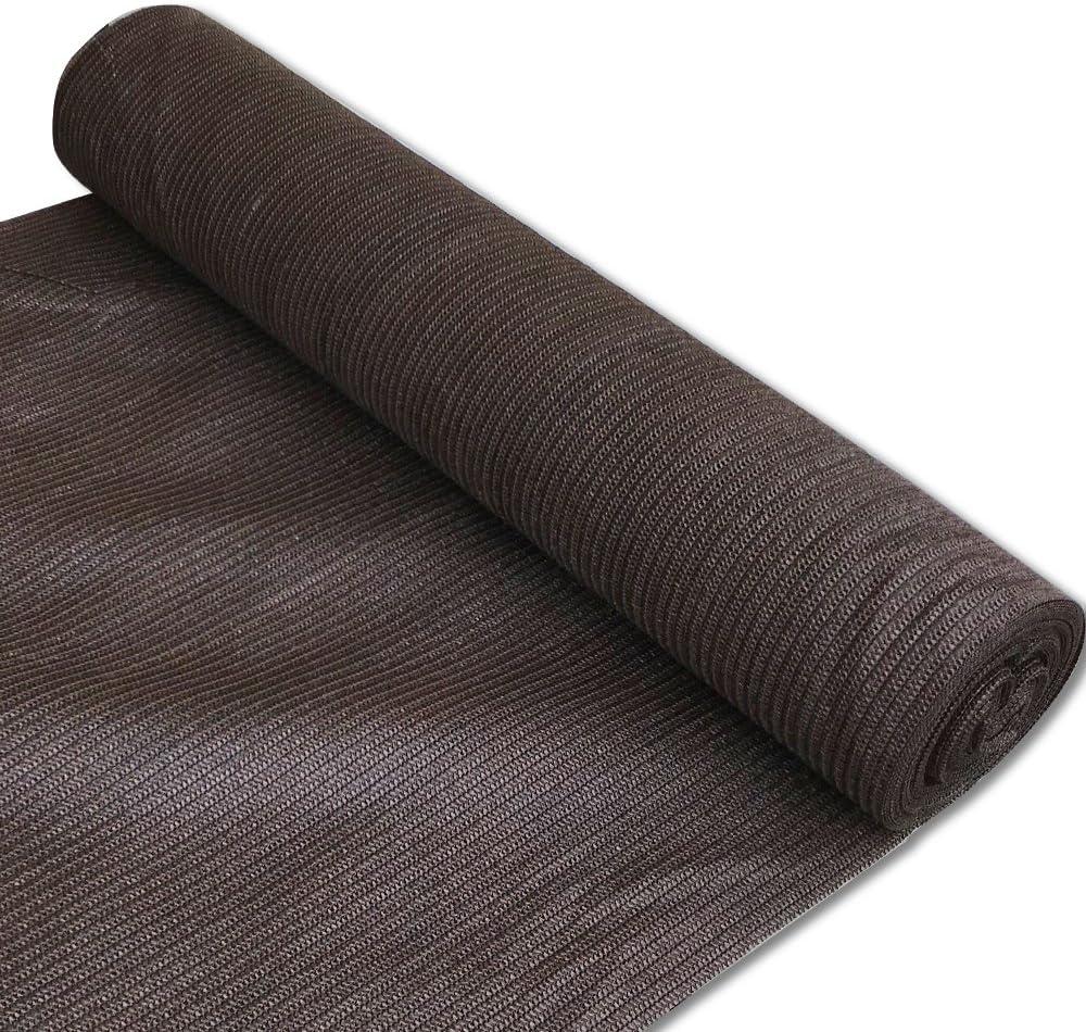 Alion Home 180 GSM Sunblock Shade Fabric Roll, 95% UV Block Breathable Mesh for Patio, Pergola, Greenhouse, Barn (10' x 50', Brown)