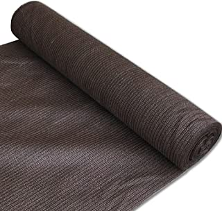 Alion Home 180 GSM Sunblock Shade Fabric Roll, 95% UV Block Breathable Mesh for Patio, Pergola, Greenhouse, Barn (10' x 50', Brown)