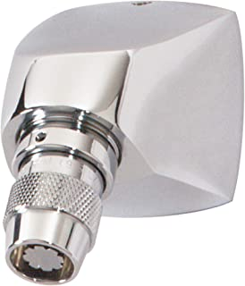 Symmons 4-295-A-1.5 Institutional 1-Spray 1 in. Fixed Showerhead with Anchor Plate in Polished Chrome (1.5 GPM)