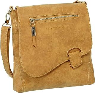 Ledershop24 Geschenkset - Handtasche Schultertasche Umhängetasche Wildleder-Imitat Used Look mit Riegelverschluss Farbe co...