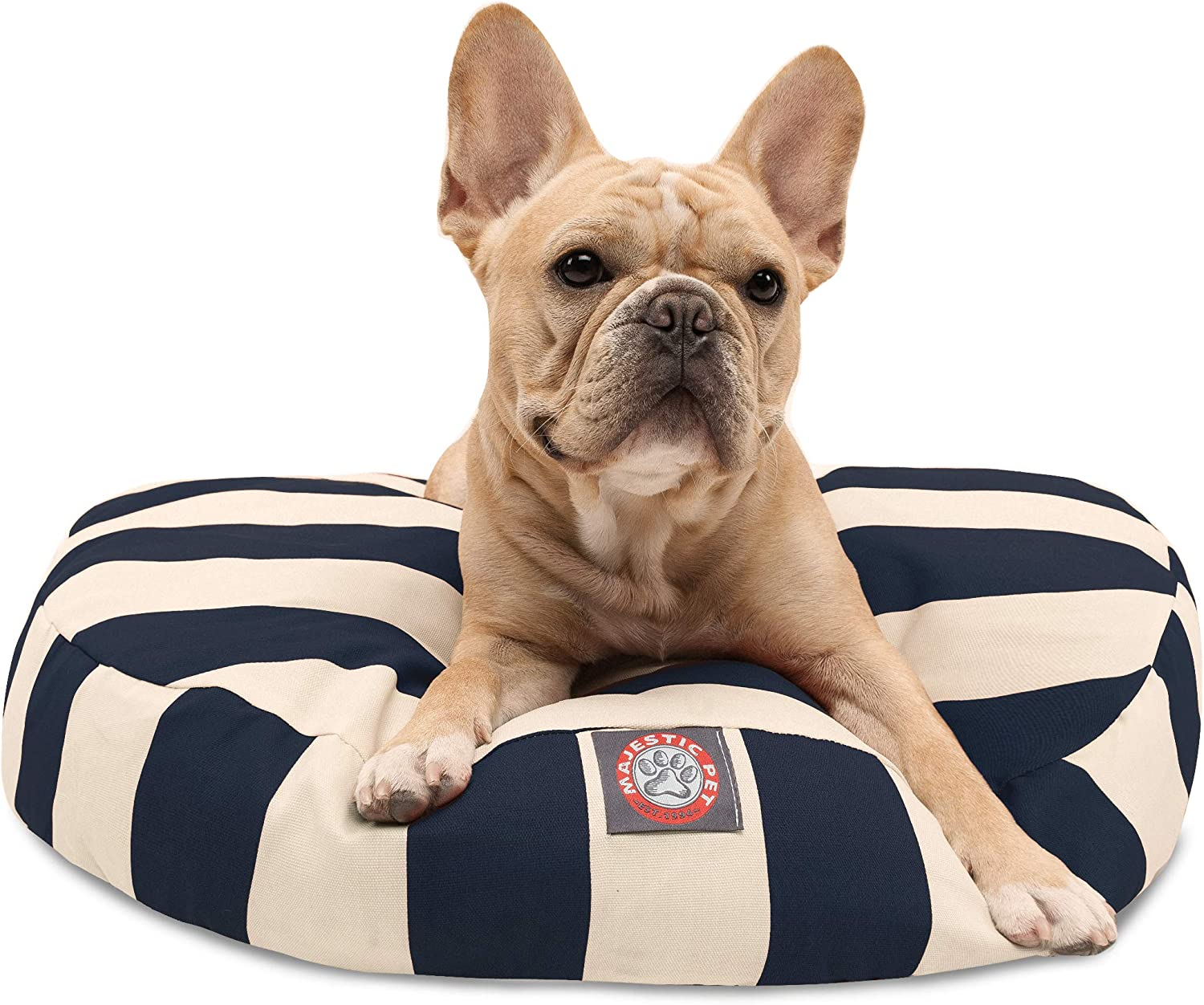 Navy Blue Vertical Stripe Many popular brands Small Round Bed Outdoor Indoor Dog Popular shop is the lowest price challenge Pet