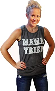 Graphic Tank top for Women Graphic tees Mama Tried Grey Muscle