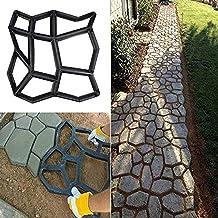 vijTIANDifine - Molde reutilizable para hormigón, diseño de piedra de cemento