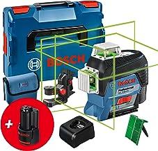 Bosch Professional 12V System Lijnlaser GLL 3-80 CG (2x Accu 12V, Oplader, Groene Laser, met Appfunctie, Houder, Werkberei...