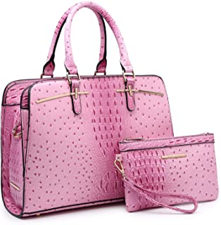 Dasein Women Satchel Handbags Shoulder Purses Totes Top Handle Work Bags With Matching Wallet