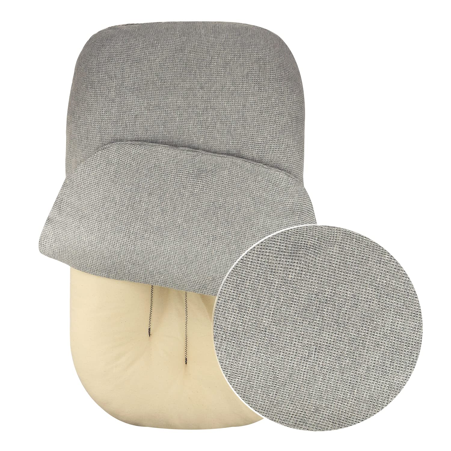 NoomiNest Baby Lounger Cover ONLY | 100% Waffle Cotton (Stone Gray)