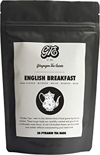 English Breakfast Tea Bags - Fresh 2019 Harvest - 20 Pyramid Tea Bags - Directly Shipped from our Family-Owned Estate in Assam, India - Morning Breakfast Tea