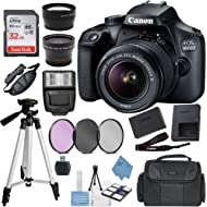 Canon EOS 4000D (Rebel T100) Digital SLR Camera w/ 18-55MM DC III Lens Kit (Black) with Accessory...