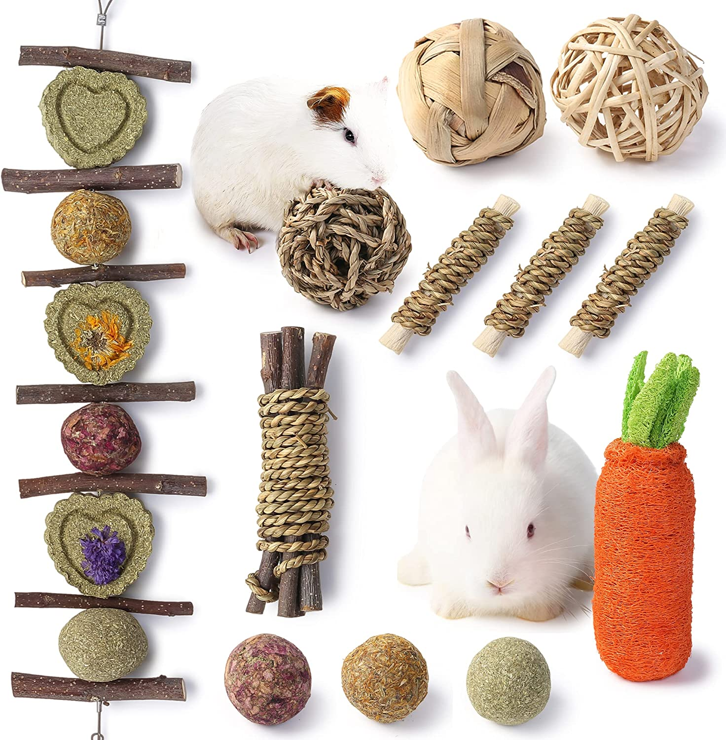 JanYoo Rabbit Chew Toys for Teeth Natural Guinea Wooden Pig Acce Louisville-Jefferson County Sale price Mall