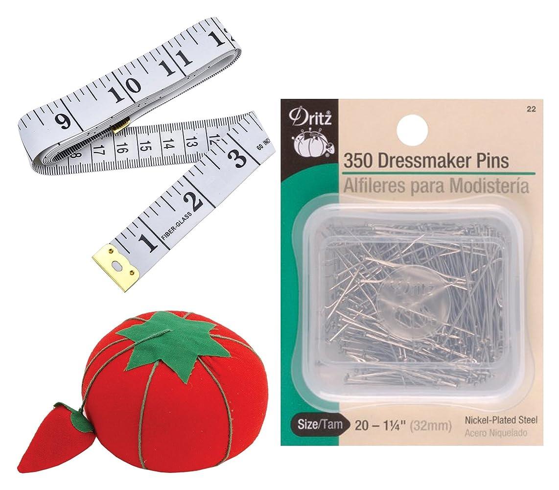Dritz Value Bundle Tomato Pin Cushion (Smaller 2.5