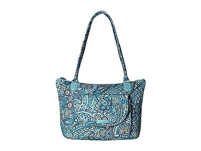 Vera Bradley Carson East/West Tote (Daisy Dot Paisley) Tote Handbags