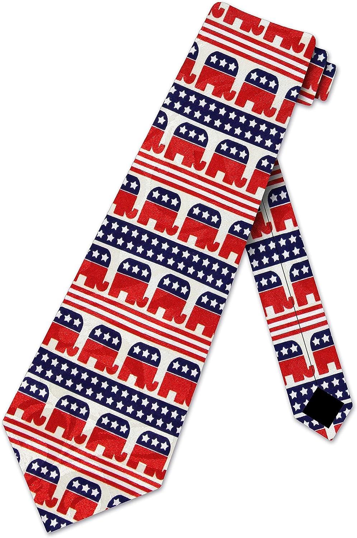 Republican Elephant Flag New Novelty Tie Omaha Mall Bargain sale Necktie